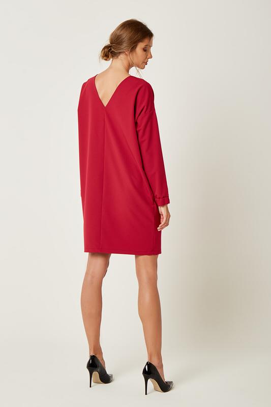 CM4239 Klasyczna sukienka oversize - różowa