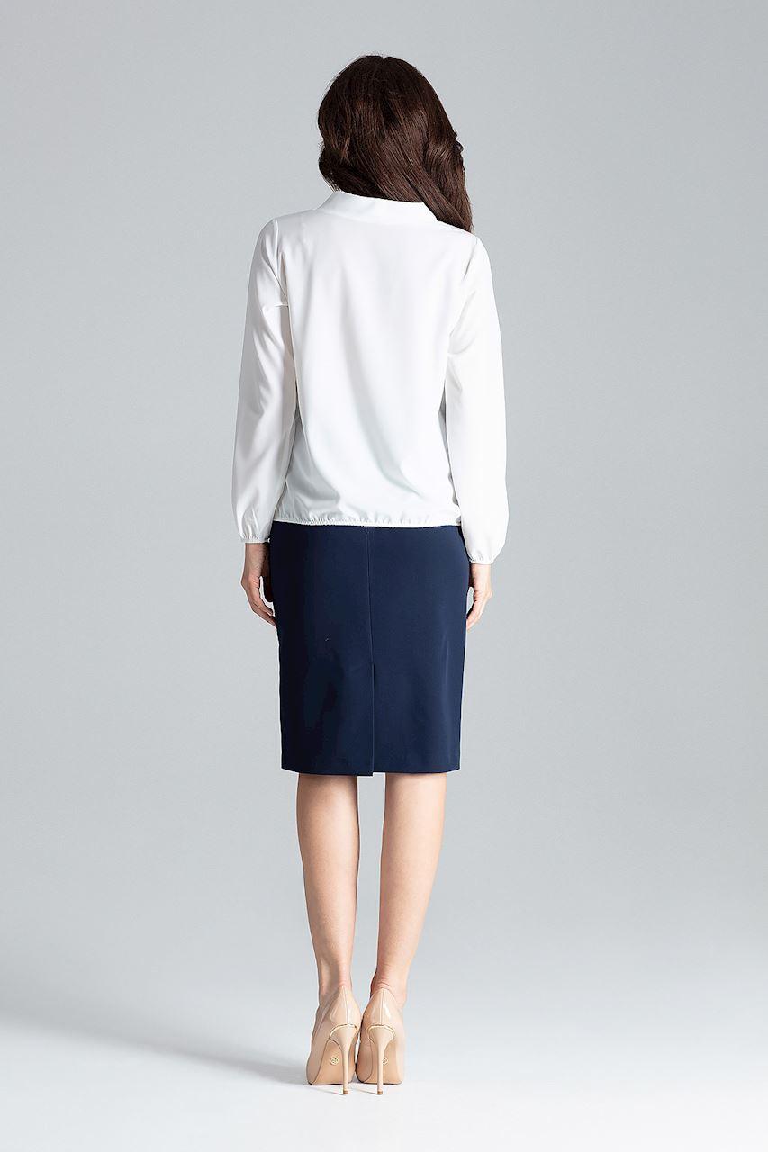 CM4256 Delikatna bluzka z długim rękawem - ecru