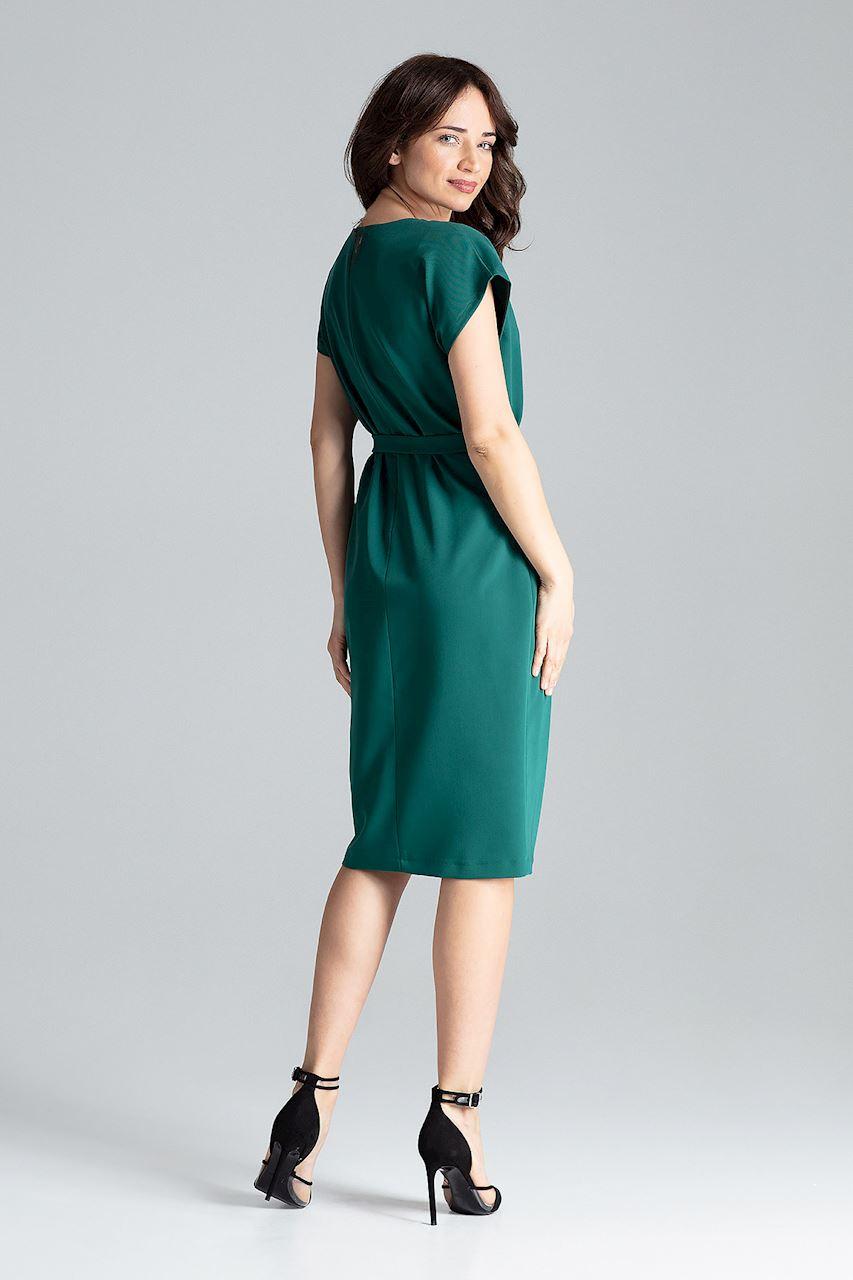CM4258 Sukienka z rękawem kimono - zielona