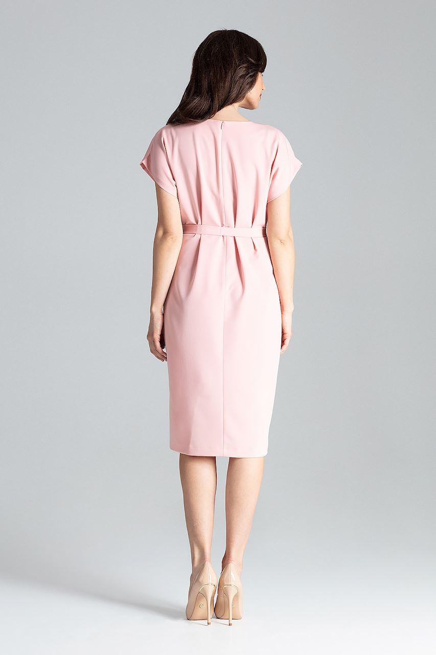 CM4258 Sukienka z rękawem kimono - różowa