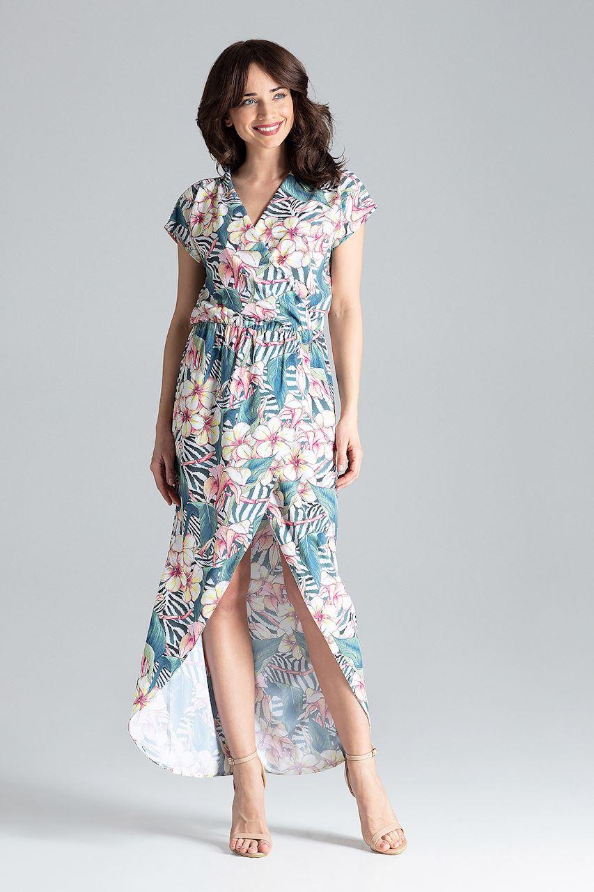 CM4259 Długa sukienka kimono - wzór 104