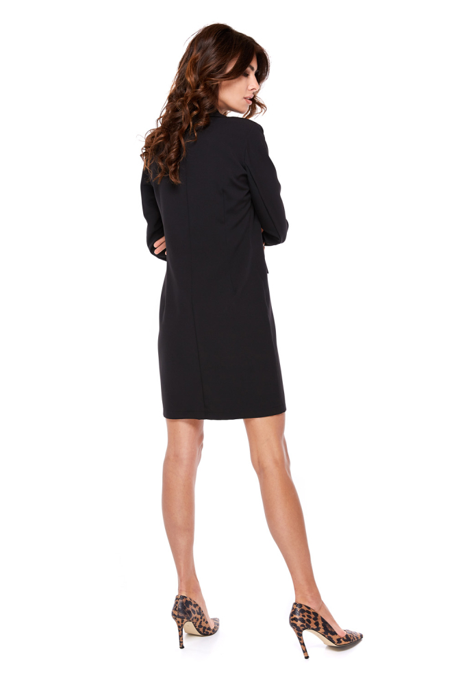CM4282 Sukienka żakietowa zapinana dwurzędowo - czarna