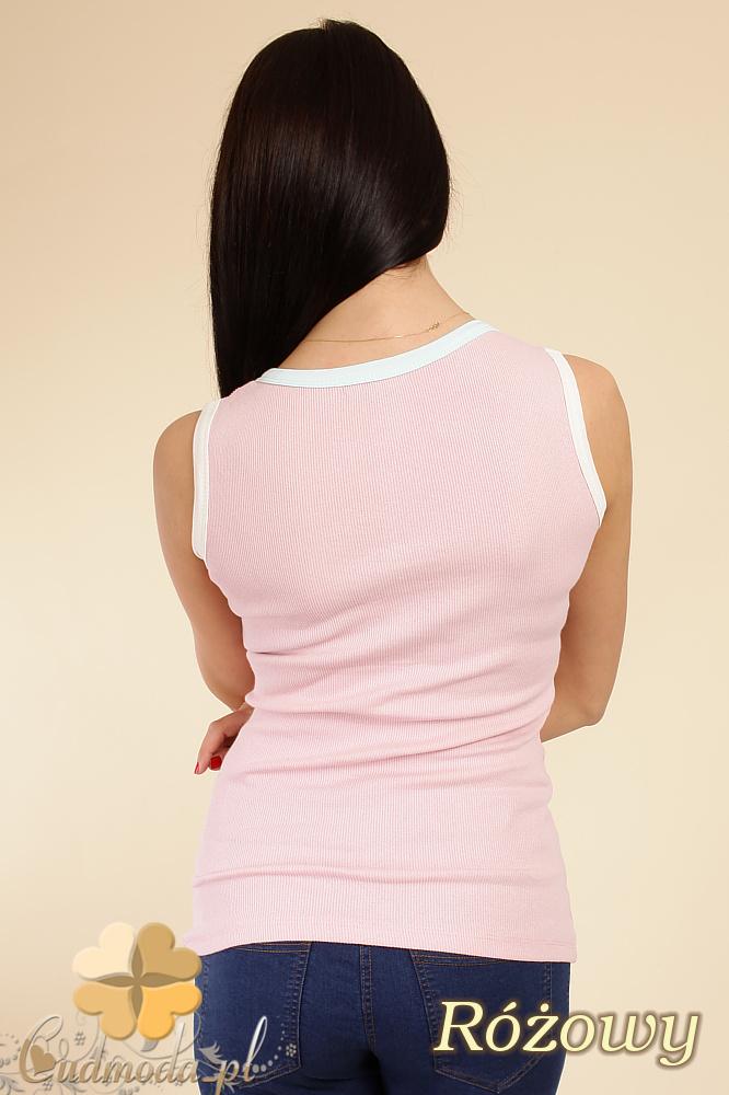 CM0240 Bluzka top bez rękawów - różowy