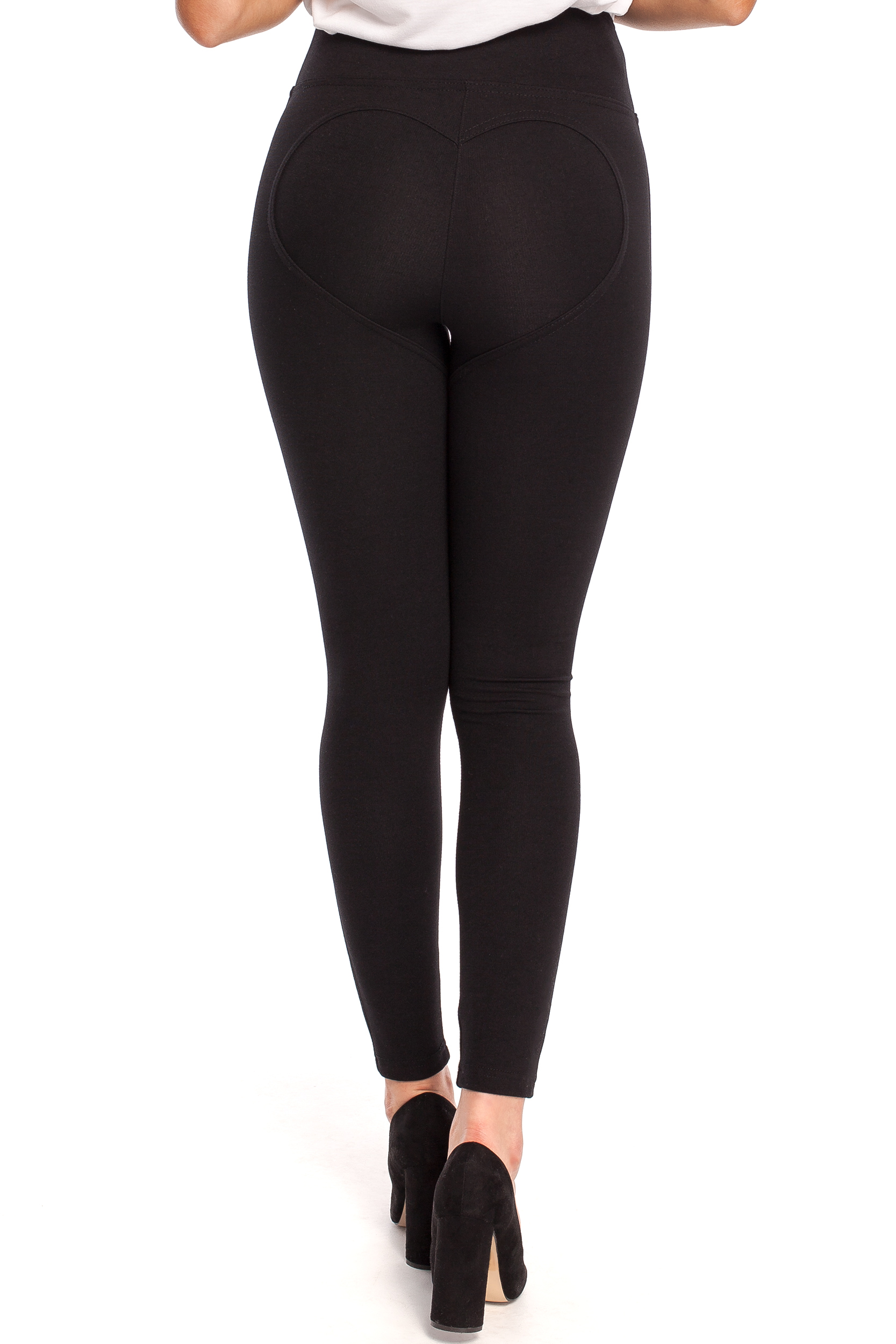 CM4332 Elastyczne legginsy z wysokim stanem - czarne