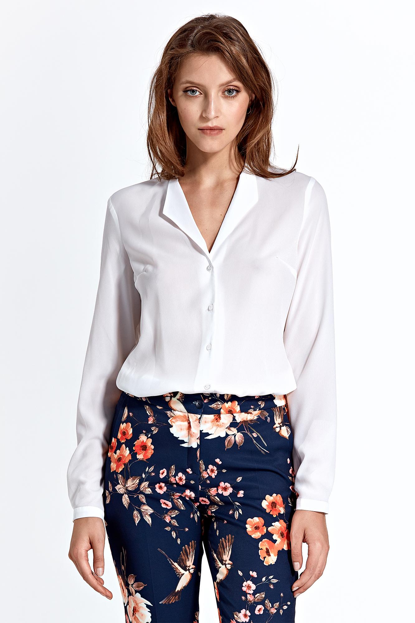 CM4592 Klasyczna koszula z długim rękawem - ecru
