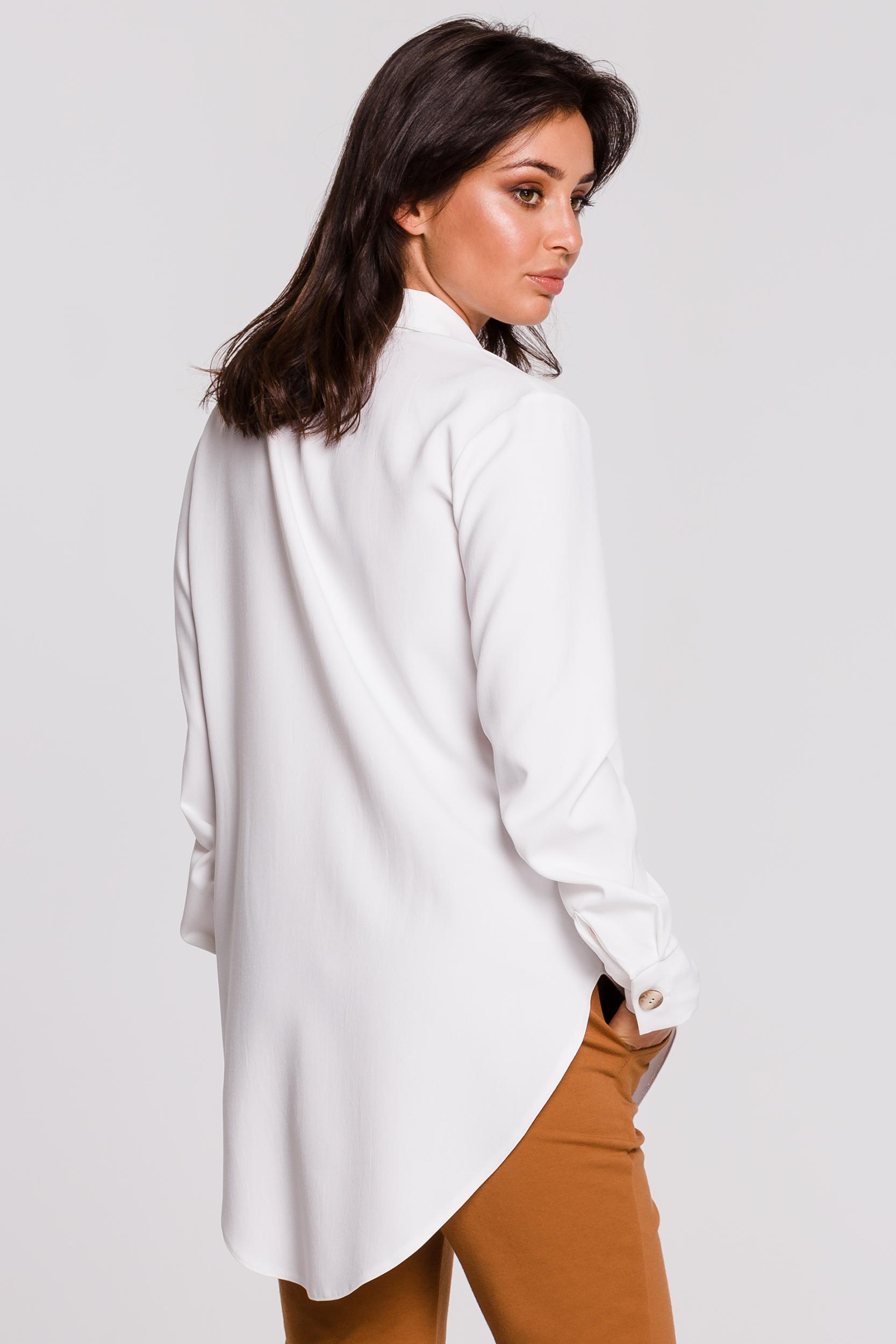 CM4597 Koszula z kołnierzykiem - biała