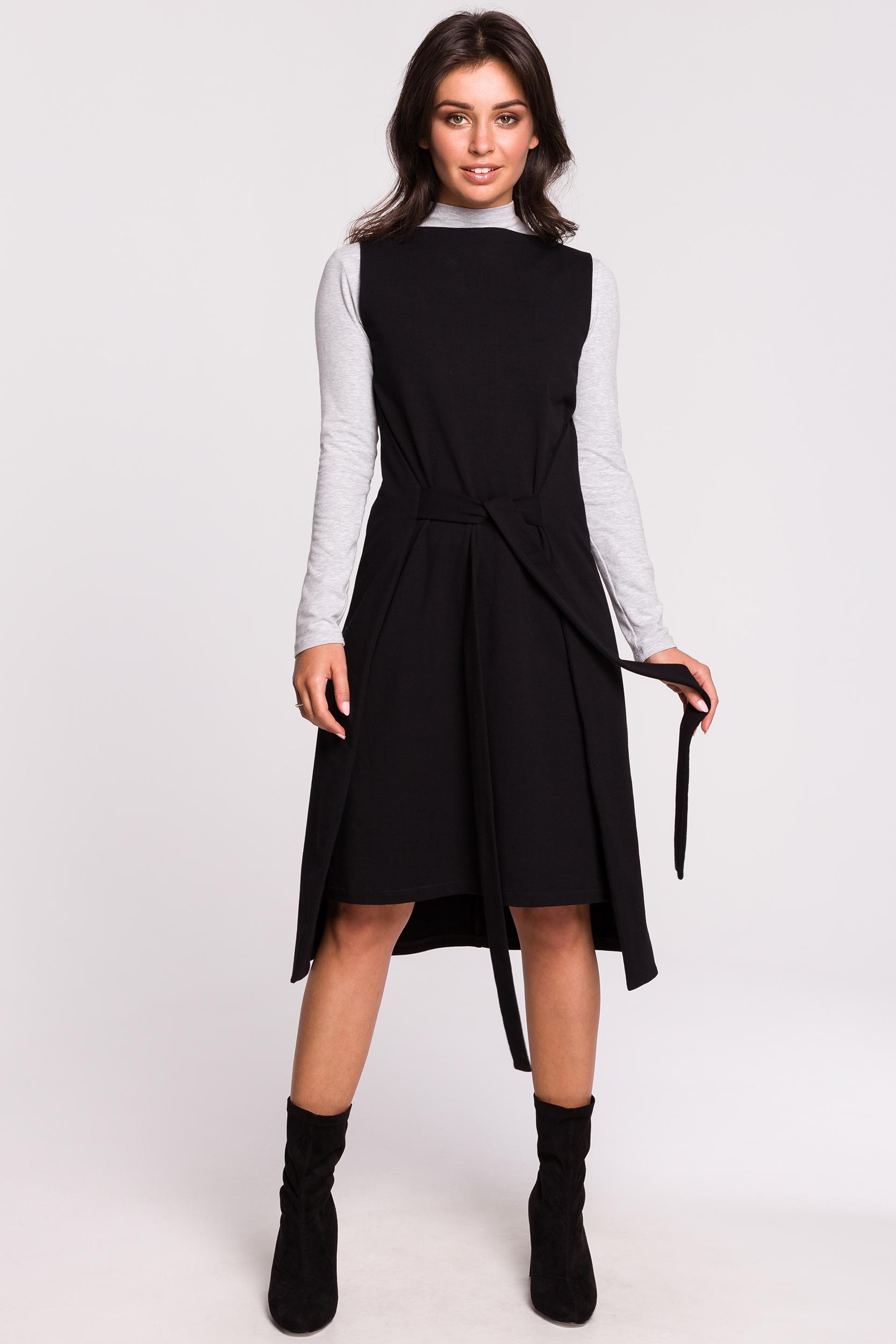 CM4601 Sukienka-tunika bez rękawów - czarna