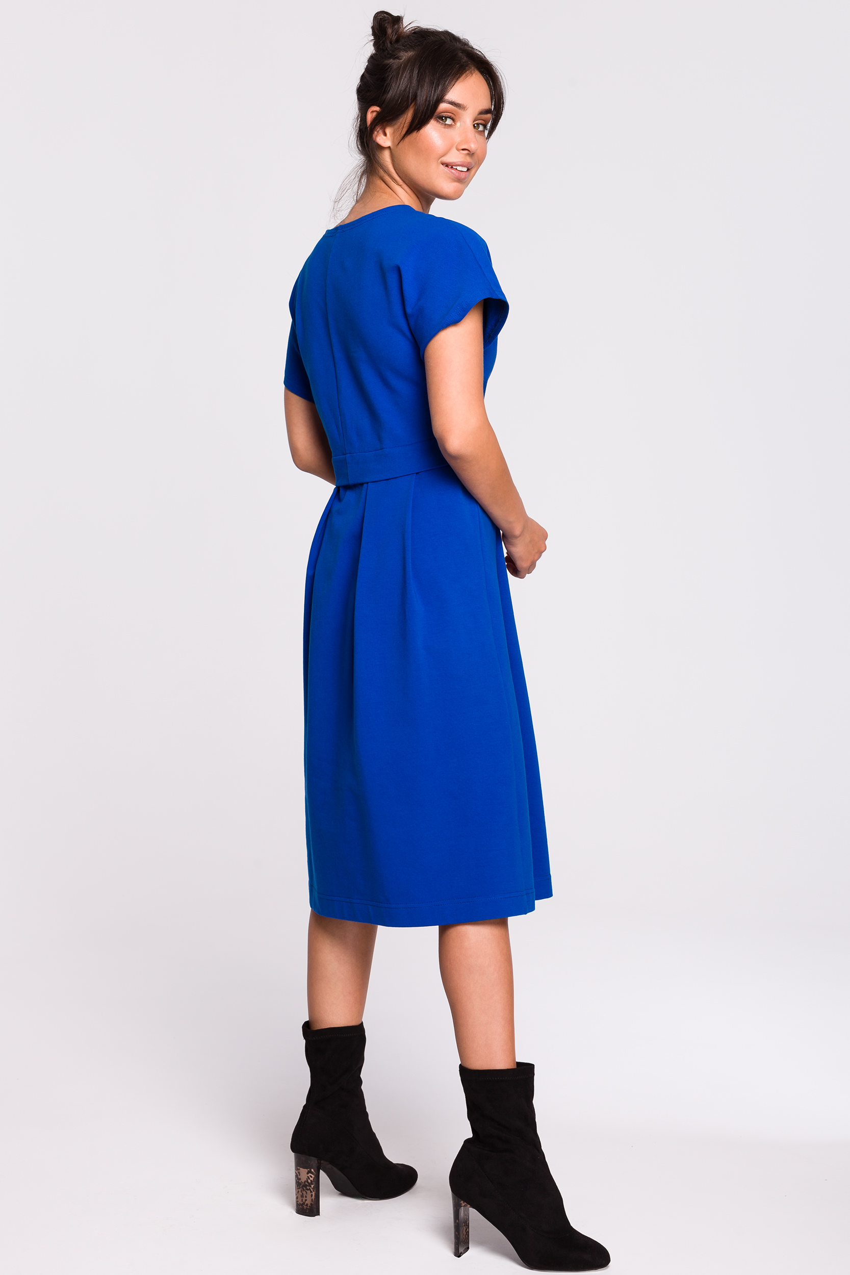 CM4609 Sukienka midi warstwowa - chabrowa