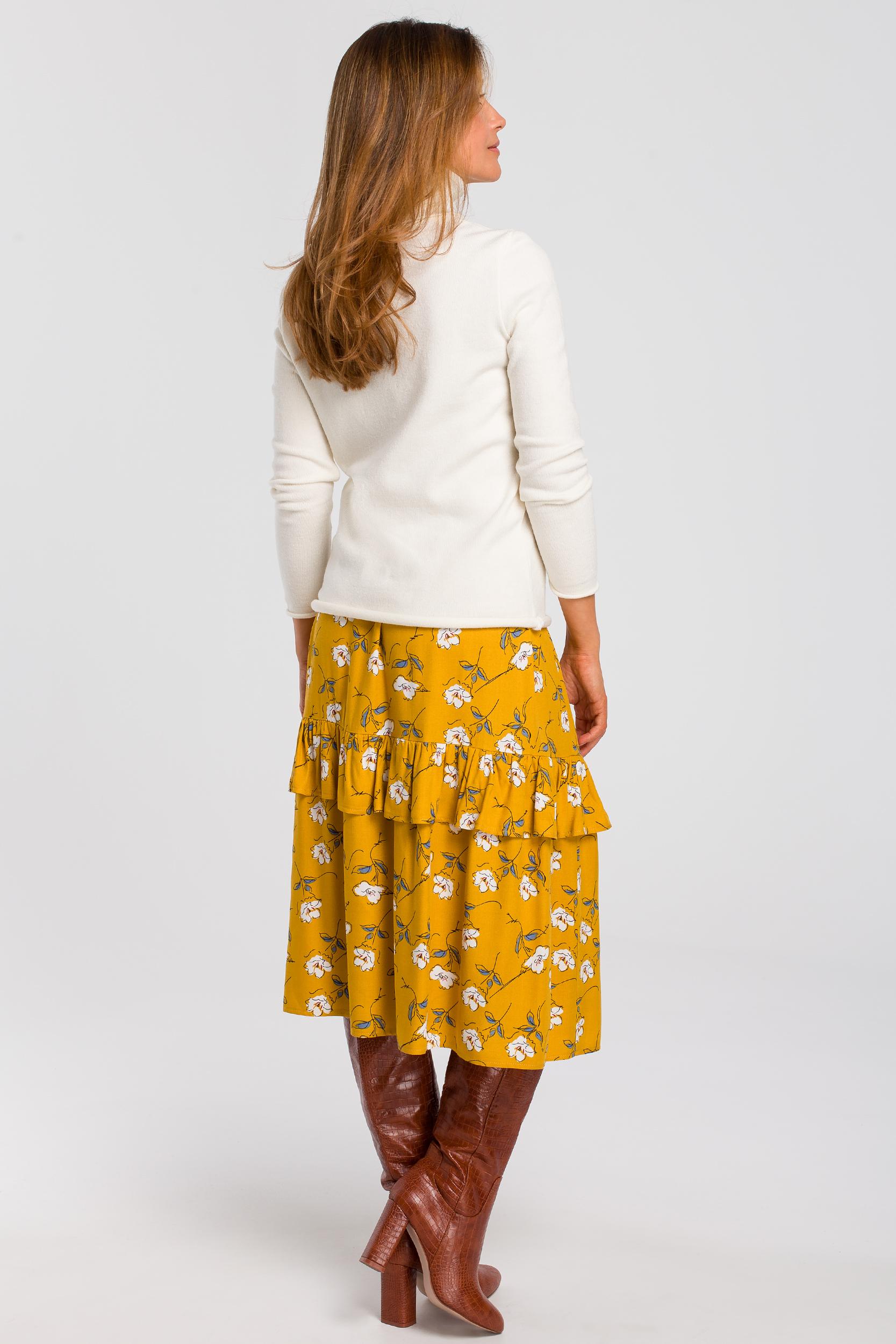 CM4641 Zwiewna spódnica midi w kwiaty - model 1