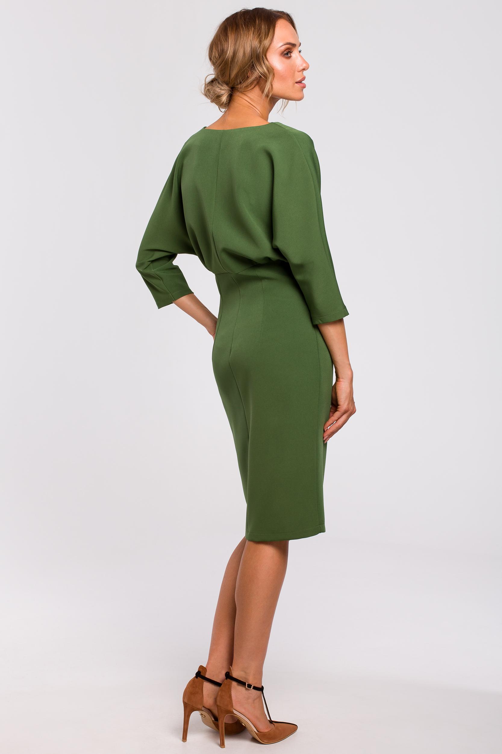 CM4782 Sukienka z luźną górą - zielona