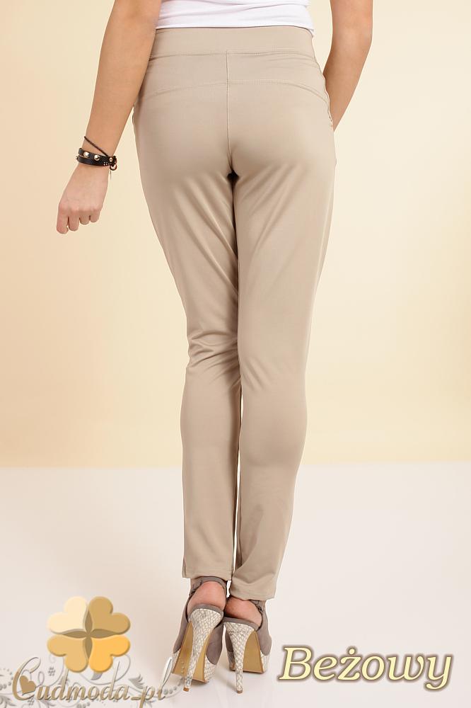 CM0196 Włoskie spodnie pumpy legginsy - beżowe OUTLET