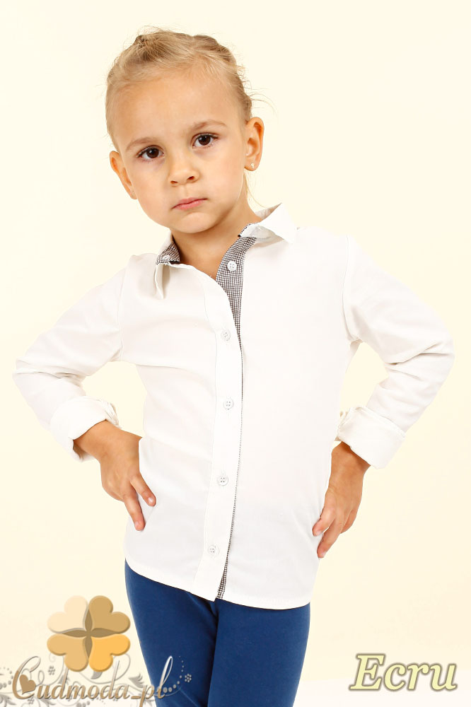 MA023 Elegancka dziecięca koszula - ecru