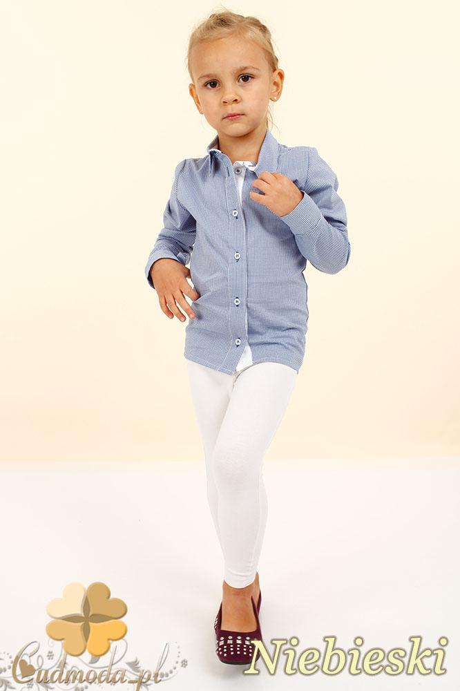 MA023 Elegancka dziecięca koszula - niebieska