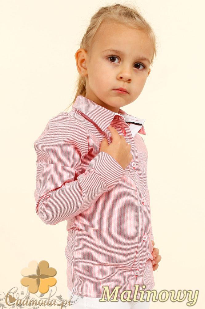 MA023 Elegancka dziecięca koszula - malinowa