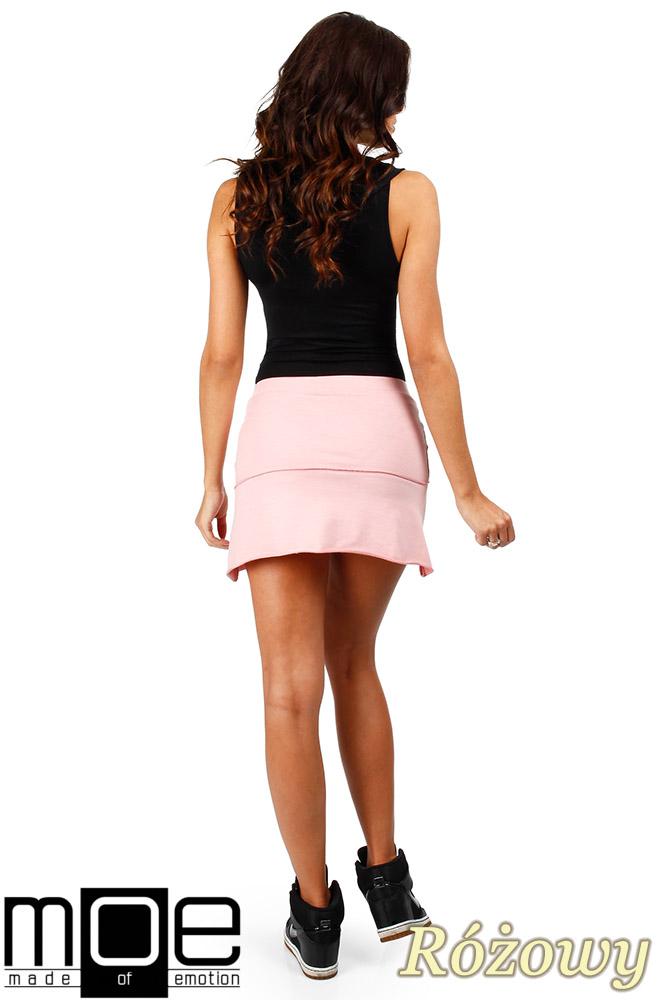 CM0351 Mini spódniczka z dzianiny - różowa