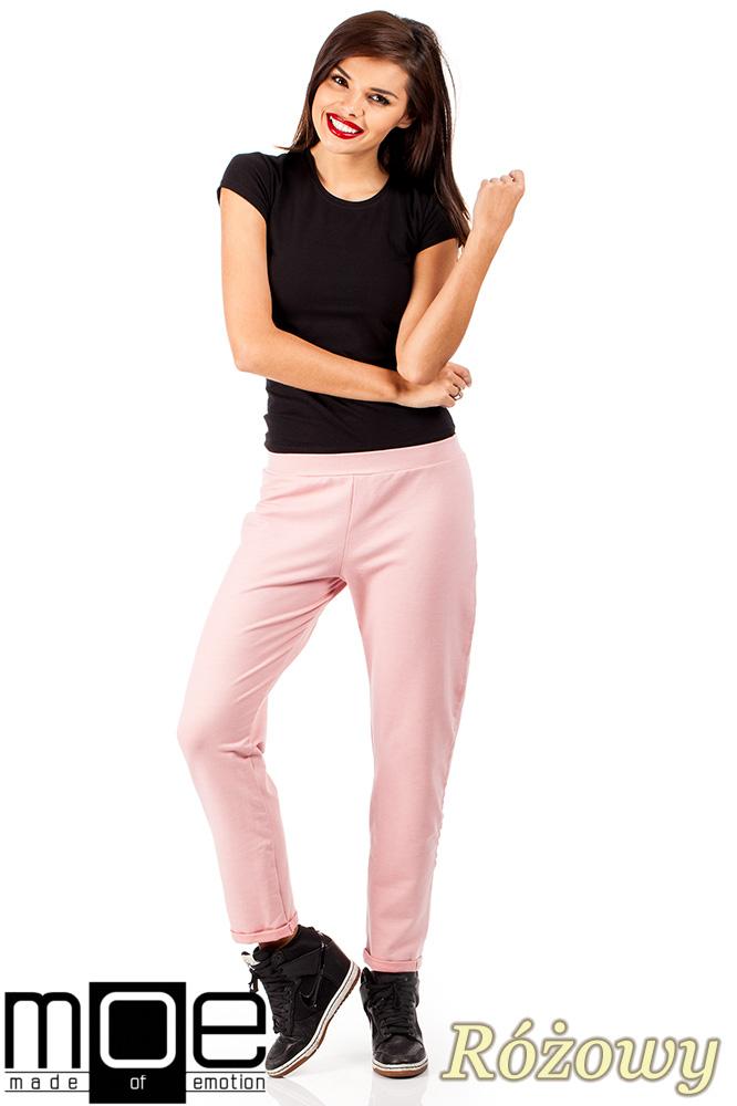 CM0358 Dresowe spodnie damskie - różowe