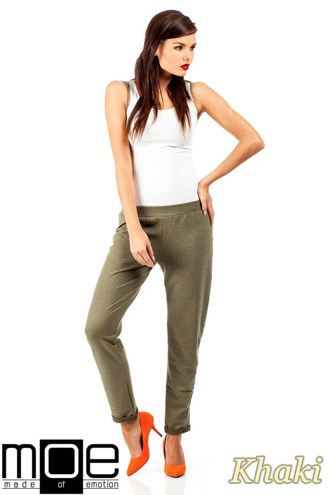 CM0358 Dresowe spodnie damskie - khaki
