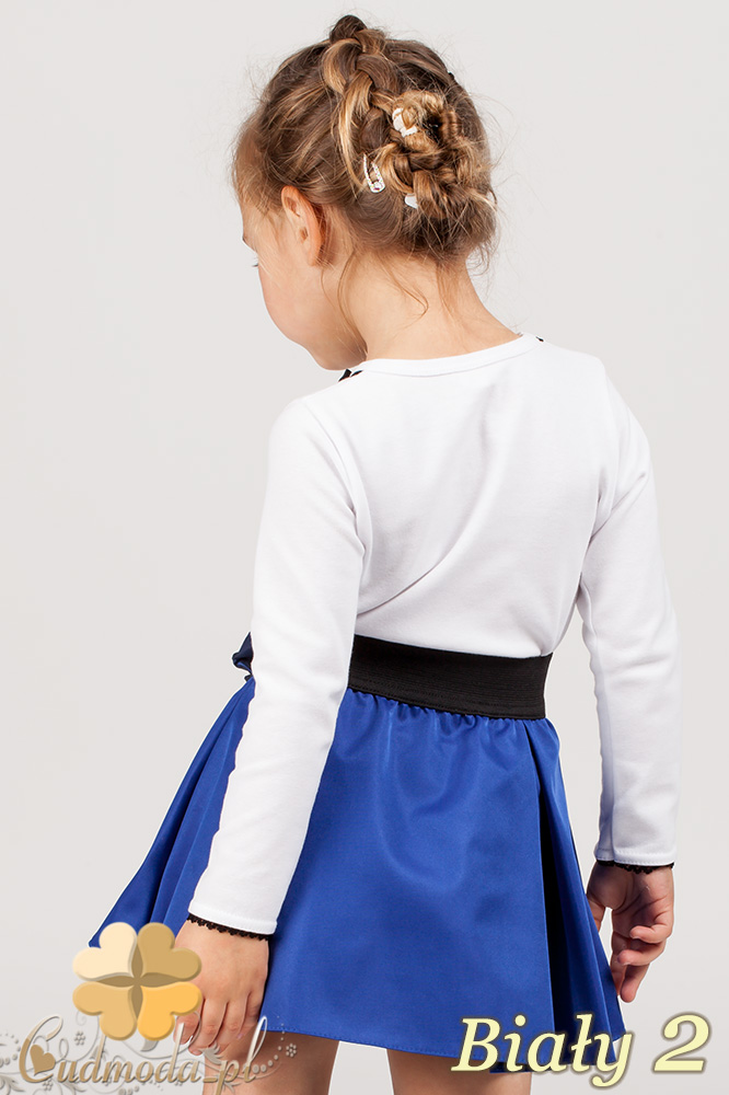 MA009 Klasyczna bluzeczka dla dziewczynki z koronką - biała 2