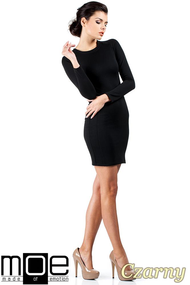 CM0326 Klasyczna sukienka mini - czarna