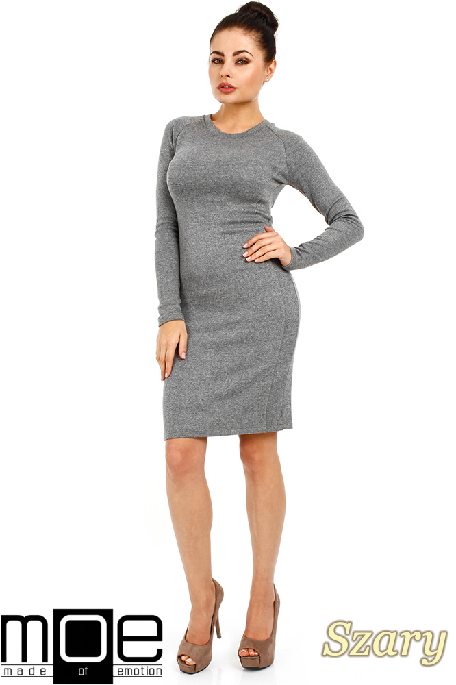 CM0326 Klasyczna sukienka mini - szara