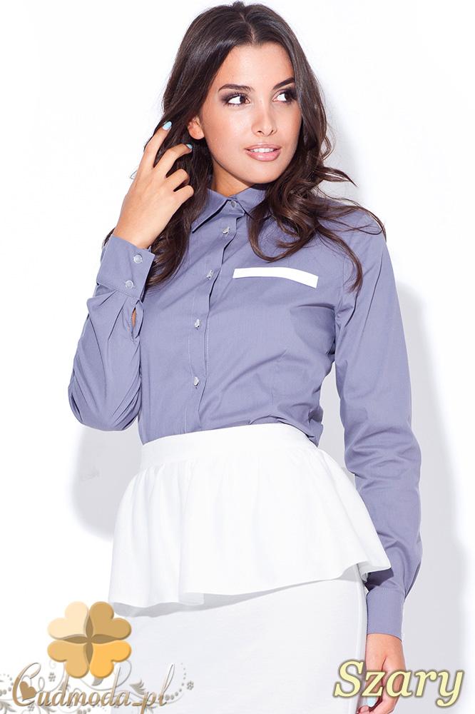 CM0431 KATRUS K033 Elegancka koszula damska - szara