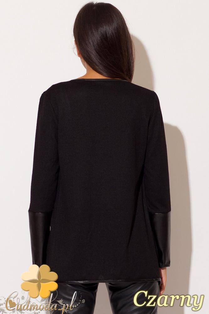 CM0434 KATRUS K112 Wdzianko sweterek damski - czarne