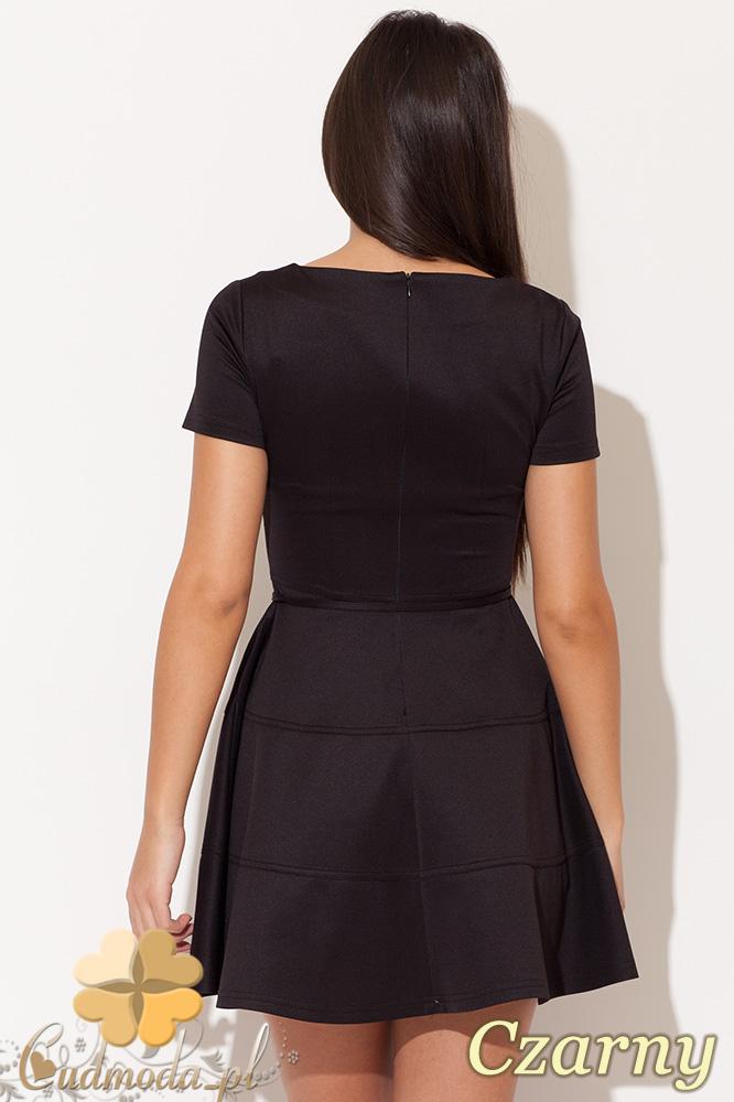 CM0478 KATRUS K090 Rozkloszowana sukienka mini - czarna