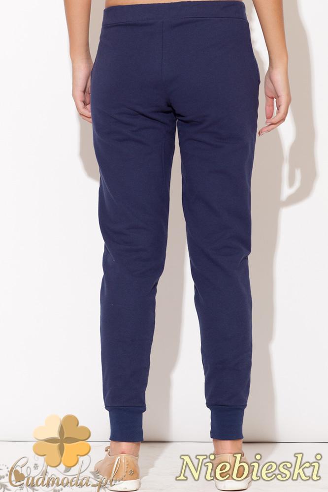 CM0513 KATRUS K095 Dresowe spodnie damskie z bawełny - niebieskie