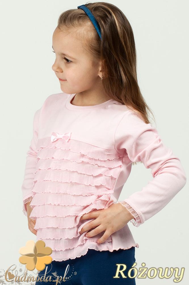 MA028 Dziewczęca bluzeczka z falbankami - różowa